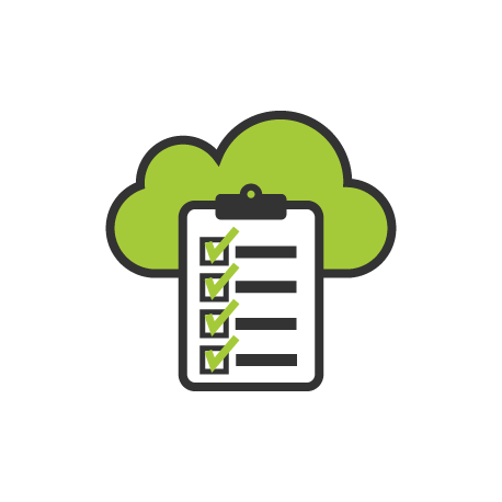 cloud and clipboard icon by erin gibbs