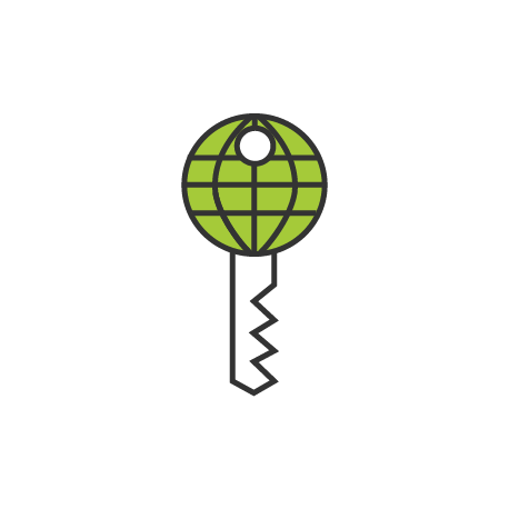 Web and Key security icon by Erin Gibbs